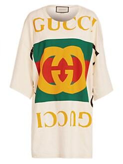 44e6b3189 Gucci. Oversized Logo Tee Beach ...