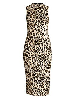 5972878cc31e Product image. QUICK VIEW. Alice + Olivia. Delora Leopard Sleeveless  Bodycon Dress