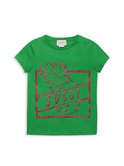 780b9b4ab7ca Gucci. Little Girl's & Girl's Glitter Gucci Pineapple T-Shirt