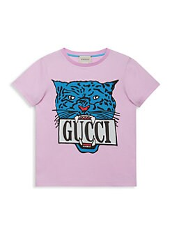 ad9f67249d3c ... Girl's Gucci Tiger Print T-Shirt LILAC. QUICK VIEW. Product image