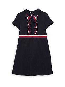 86faac461f48 Gucci - Little Girl's & Girl's Stripe Web A-Line Shirtdress