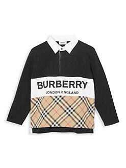 a18cbd75 Burberry - Little Boy's & Boy's Hamilton Cotton Rugby Shirt