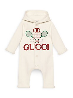 e197f8161 Product image. QUICK VIEW. Gucci. Baby Boy's Tennis Jersey Hooded  Sleepsuit. $375.00. Pre-Order
