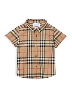 a7b30ae7 Burberry. Baby's & Little Boy's Fredrick Vintage Check Cotton Shirt
