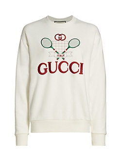 b22f1715 Product image. QUICK VIEW. Gucci. Heavy Felted Jersey Gucci Tennis  Sweatshirt