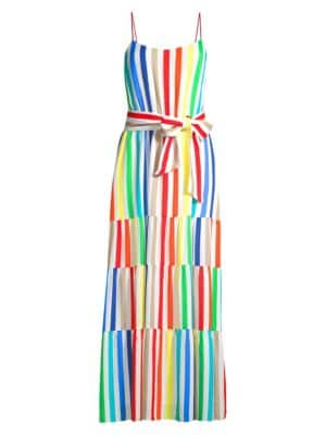 Alice Olivia Janan Striped Maxi Dress