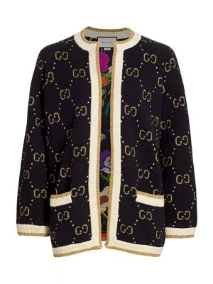Gucci Allover Gg Jacquard Cardigan