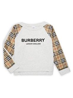 16f6e8b4387e2 Burberry - Little Girl's & Girl's KG5 Esther Logo & Tartan Sweatshirt