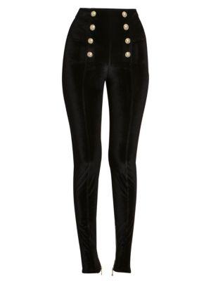 Balmain Velvet Pique Skinny Pants