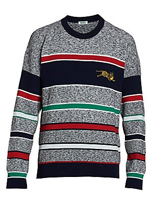 8de198c3d41 Kenzo - Jumping Tiger Stripe Sweater - saks.com