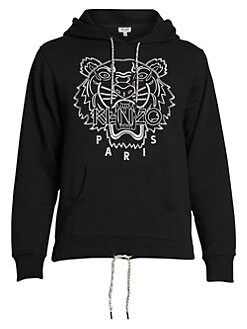 264dfc7e Kenzo. Blanket-Stitch Tiger Cotton Hoodie