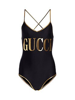 bc3bd2564cd510 Gucci - Sparkling Gucci Logo One-Piece Swimsuit