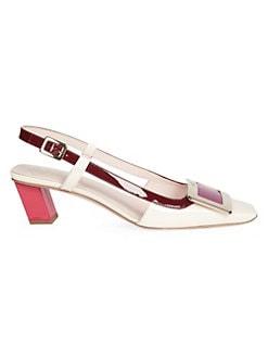 ca8b62b046cf QUICK VIEW. Roger Vivier. Belle Vivier Patent Leather Slingback Sandals