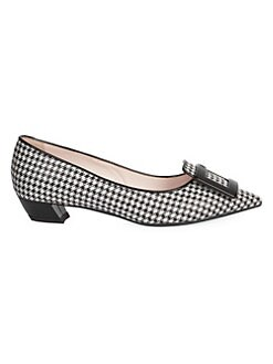 d039f7955d31 QUICK VIEW. Roger Vivier. Gommettine Houndstooth Piping Ballerina Pumps