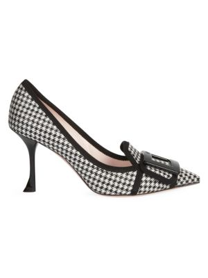Roger Vivier Soft Gommettine Houndstooth Stiletto Pumps