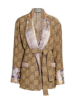73ae856902 QUICK VIEW. Gucci. GG Jacquard Linen Oversized Robe Jacket