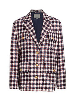 bd6bd425a Product image. QUICK VIEW. Gucci. Lightweight Tweed Plaid Swing Jacket.  $3600.00 · Wool Admiral Caban Coat ADMIRAL DAR KBLUE