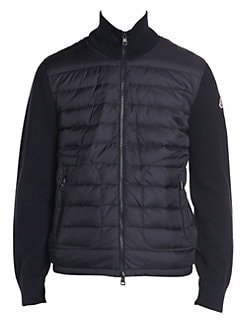 6f1f0d39afe8b Moncler. Knit-Sleeve Down Puffer Jacket