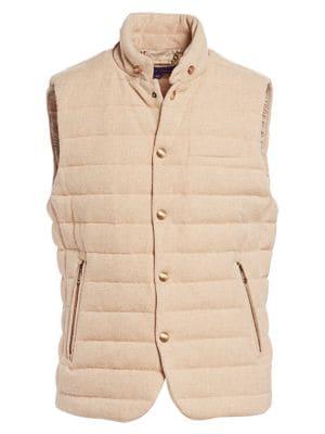 Ralph Lauren Purple Label Whitwell Quilted Merino Wool Down Vest