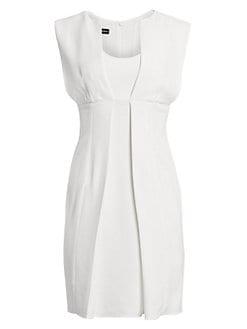 c150002daa9ea QUICK VIEW. Emporio Armani. Sleeveless Pleat Front Dress