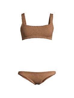 b310790e384 QUICK VIEW. Hunza G. Two-Piece Metallic Bikini Set