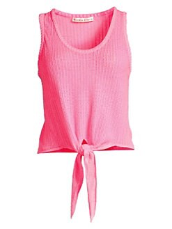 653c6a59666 QUICK VIEW. Alice + Olivia. Jacinda Tie-Front Knit Tank Top
