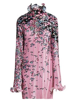 728e46132d90 Floral Pleated Wave Dress PINK BLACK. QUICK VIEW. Product image