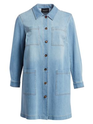 Lafayette 148 New York Plus Size Corinthia Denim Jacket