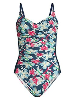 5aac977b4c Product image. QUICK VIEW. Shan. Positano Floral One-Piece Swimsuit