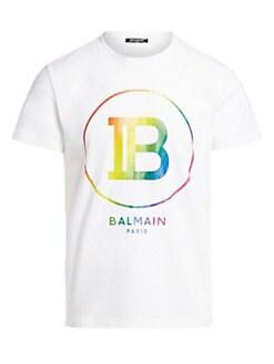 8a7c3e59e QUICK VIEW. Balmain. Unisex Rainbow Logo T-Shirt