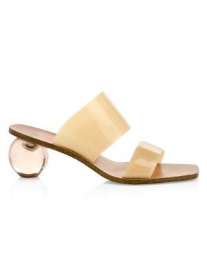 Cult Gaia Sandals Jila Vinyl Block-Heel Sandals