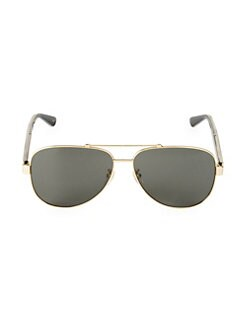77f0e47710 Product image. QUICK VIEW. Gucci. 63MM Browline Aviator Sunglasses