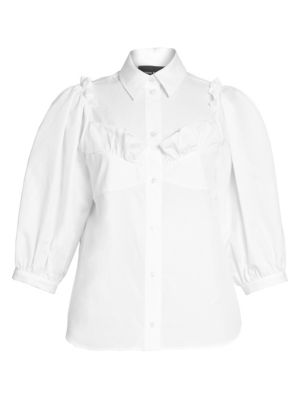 Simone Rocha Puff Sleeve Bustier Boy Shirt