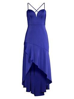 3ff2de61b09d Aidan by Aidan Mattox. Asymmetric High-Low Dress
