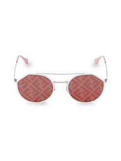 3b5191edc279 QUICK VIEW. Fendi. 54MM Notched Aviator Sunglasses