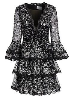 28461da8972e Marchesa. Sequin Tiered Ruffle Dress