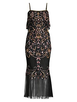 7a874da6399b QUICK VIEW. Aidan Mattox. Beaded Popover Midi Mermaid Dress