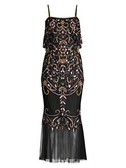 dc7ecc28cd3 QUICK VIEW. Aidan Mattox. Beaded Popover Midi Mermaid Dress