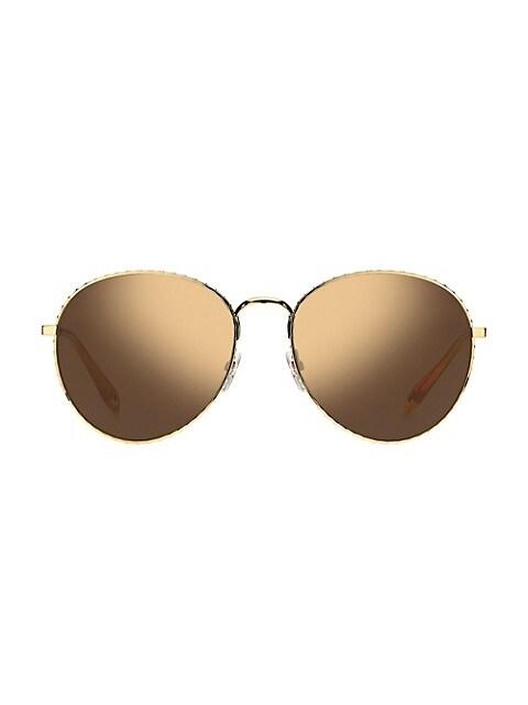 60MM Mirrored Aviator Sunglasses