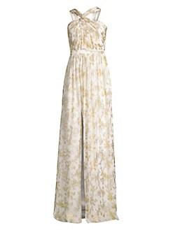 0ffb48ab8 QUICK VIEW. Rachel Zoe. Bella Metallic Floral Gown