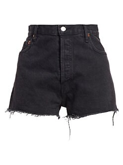 292376cc7 RE DONE. High-Rise Denim Shorts