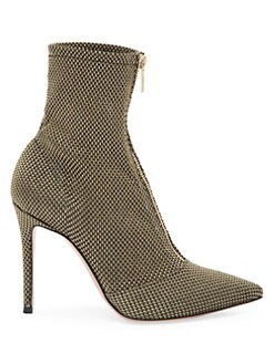 7bca60d3dbf Booties. Gianvito Rossi - Gold Mesh Woven Metallic Ankle Boots