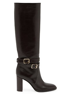 0e544c7a94f2 Product image. QUICK VIEW. Gianvito Rossi. Buckle Leather Knee-High Boots