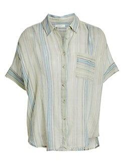 1b348750a56 Rag   Bone - Lenny Striped Tie Shirt