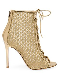 c9fddcb978102 QUICK VIEW. Gianvito Rossi. Helena Lace-Up Mesh Leather Booties