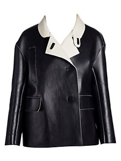27831a23 Marni. Bonded Leather Crossover Jacket