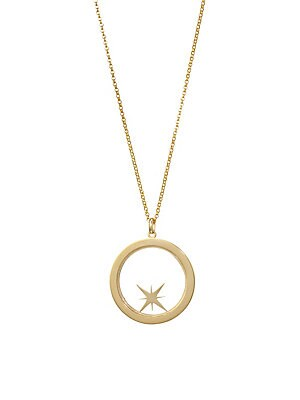 Image of From the Constellation Collection. Brilliant, Authentic, Refined, Enigmatic. Bare collection jewelry is for those who inspire. Crafted from 14-karat gold, our compass shaker let's you set your direction and intention. All of the pieces are handmade in Los