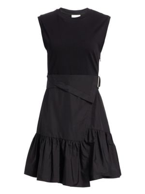 3 1 Phillip Lim Wrap Effect Belted Tee Dress