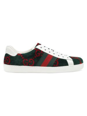 New Ace Gg Allover Print Sneakers