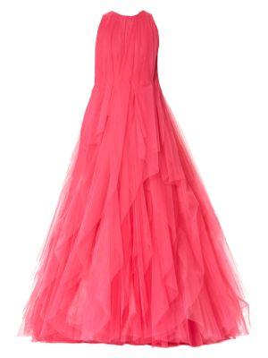 Carolina Herrera Tops Multi-Layer Halter Tulle Gown